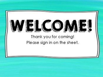 FREE Meet the Teacher Sign In Sheet for Back to School!