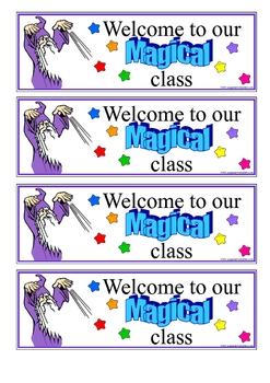 FREE Welcome to Our Class Bookmarks