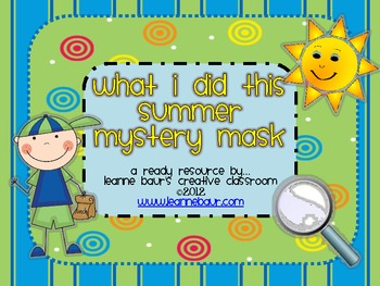 {FREE} What I Did This Summer Mystery Mask
