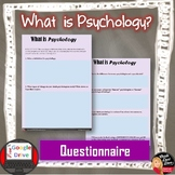 FREE! What is Psychology? Questionnaire