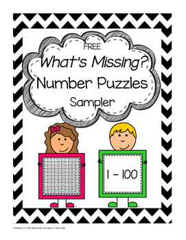 FREE What's Missing? Number Puzzles Level 2 Sampler