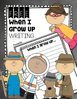 FREE When I Grow Up Writing Page