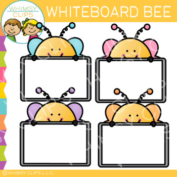 free whiteboard bee clip art by whimsy clips teachers pay teachers rh teacherspayteachers com