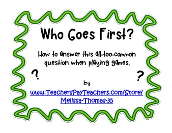 FREE Who Goes First?