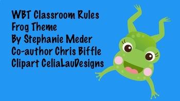 FREE Whole Brain Teaching Classroom Rules-Frog Theme