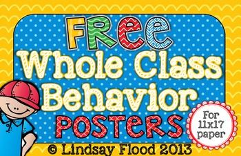{FREE} Whole Class Behavior Posters