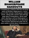 FREE William Shakespeare Introduction Handout