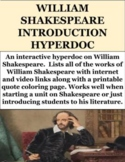 FREE William Shakespeare Introduction Hyperdoc (GOOGLE SLIDES)