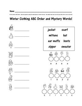FREE Winter ABC Order Activity Printable
