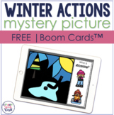 FREE Winter Actions Mystery Picture BOOM Cards™