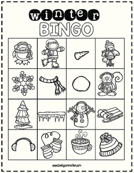 FREE Winter Bingo Boards