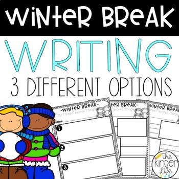 FREE Winter Break My Favorite Things Writing Activity