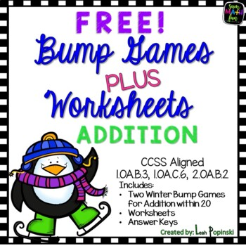 FREE Winter Bump Games - Addition