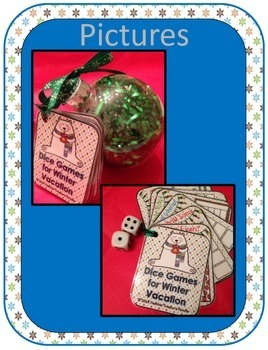 FREE Winter CHRISTMAS gift for students Math DICE Teacher Treasure Hunter