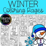 FREE Winter Coloring Pages {Made by Creative Clips Clipart}