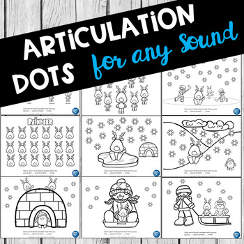 FREE - Winter Dot & Coloring Sheets For Any Articulation Activity