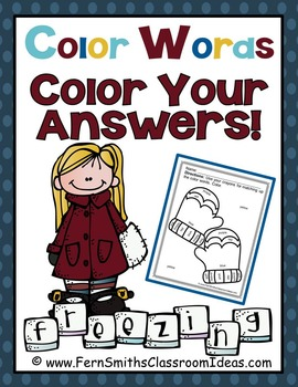 Color By Numbers Winter Know Your Colors - Color By Code Freebie