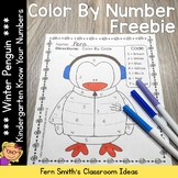 Color By Numbers Winter Know Your Numbers Worksheet Freebie
