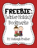 FREE - Winter Holiday Bookmarks