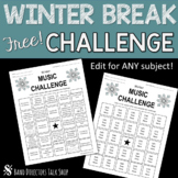 Band Practice Challenge/ Band Worksheet- WINTER FREEBIE!!