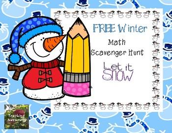 FREE Winter Math Scavenger Hunt