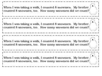 {FREE Winter Math Journal Prompts}