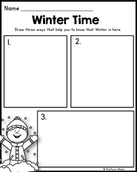 FREE - Winter Math and Literacy Printables