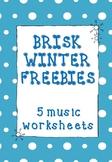 FREE Winter Music Worksheets_Set of 5