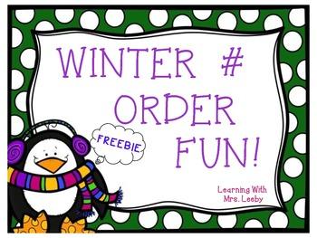 FREE Winter Number Order Fun!