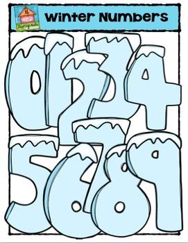 FREE Winter Numbers  (P4 Clips Trioriginals Digital Clip Art)