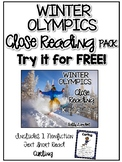 FREE Winter Olympics Close Read! Cuttin' It Close! {K, 1st, 2nd, & 3rd}