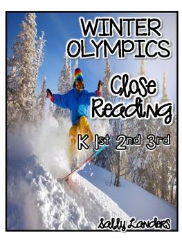 FREE Winter Olympics Close Read! Cuttin' It Close! {K, 1st, 2nd, & 3rd}