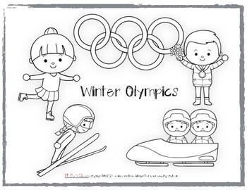 FREE Winter Olympics Coloring Sheet