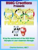 FREE--Winter Olympics Gold Medal Math-Word & Graphing Problems and Fantasy Draft