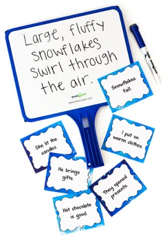 Winter Sentences | Free Task Cards with Sentences to Revise