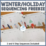 FREE Winter and Christmas Sequencing Cut and Glue Worksheets