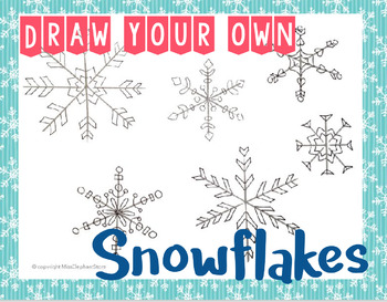 FREE Winter Snowflake Drawing Prompt French and English Version