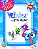 FREE Winter Spectacular Sight Word UNO (Primer)