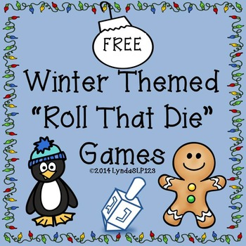 FREE! Winter Themed Roll That Die {open ended games}