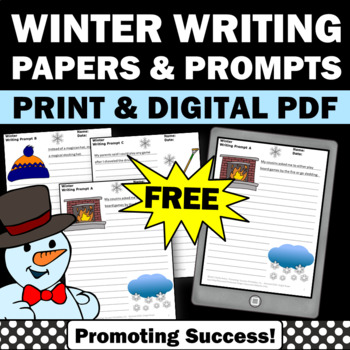 FREE Printable Winter Writing Papers for Literacy Center Activities