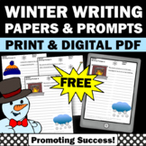FREE Printable Winter Writing Papers for Center Activities