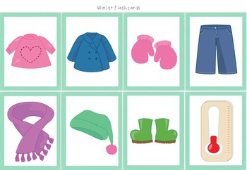 FREE Winter Weather and Clothes Flash Cards