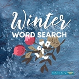 FREE: Winter Word Search Fun Extra Time Activity for Cold Days!