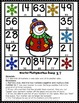 FREE Winter Bump Games - Subtraction and Multiplication