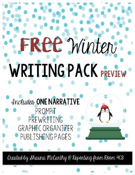 FREE Winter Writing Pack Preview
