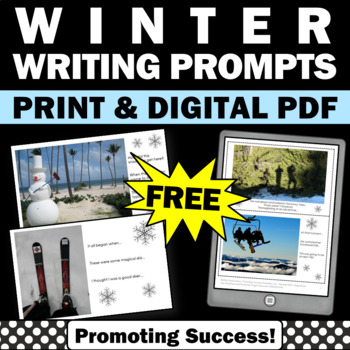 FREE Winter Writing Activities, Winter Writing Prompts