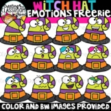 FREE Witch Hat Emotions Clipart {Creating4 the Classroom}