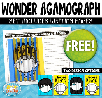 FREE Wonder Agamograph Novel Study Writing Activity {Zip-A-Dee-Doo-Dah Designs}