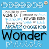 FREE Wonder Precepts Posters