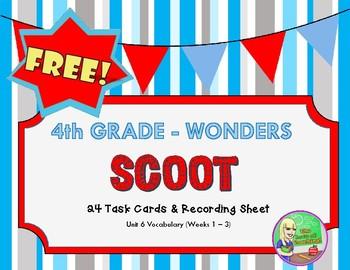FREE Wonders U6 Vocabulary SCOOT (4th)